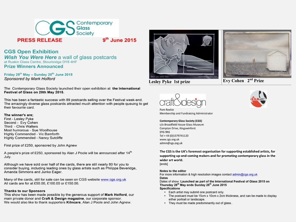 CGS Exhibition Wish-You-Were-Here- Prize2015